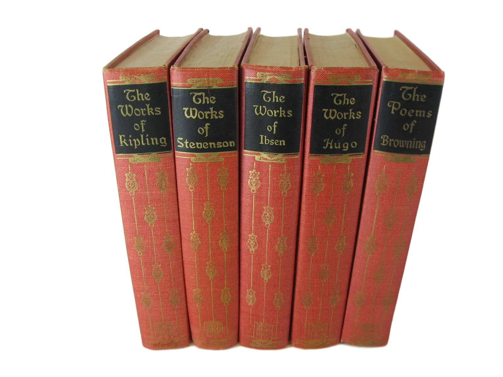 THIS @@ Works of Famous Classic Authors, a Vintage Classic Literature Set, S/5 - Decades of Vintage