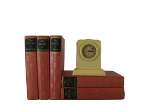 Works of Famous Classic Authors, a Vintage Classic Literature Set, S/5, [decorative_books], Decades of Vintage