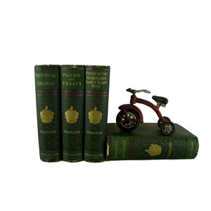 Green Antique Decorative Book Collection, S/4 - Decades of Vintage