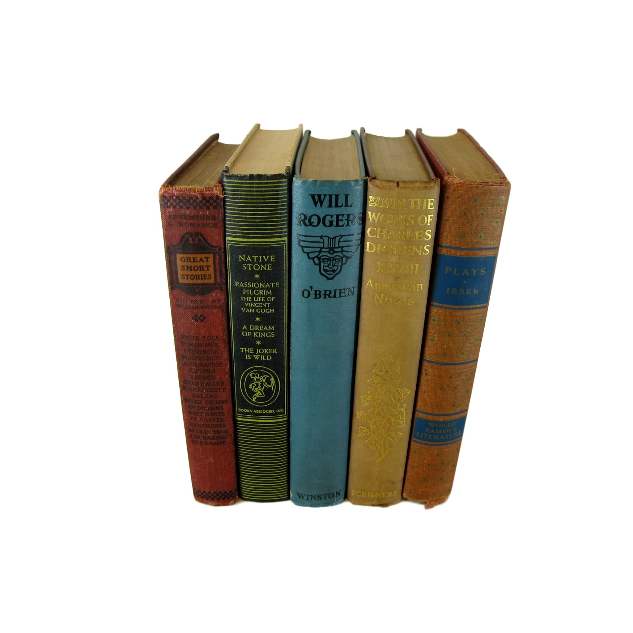Vintage Decorative Books  for  Decor , S/5 - Decades of Vintage