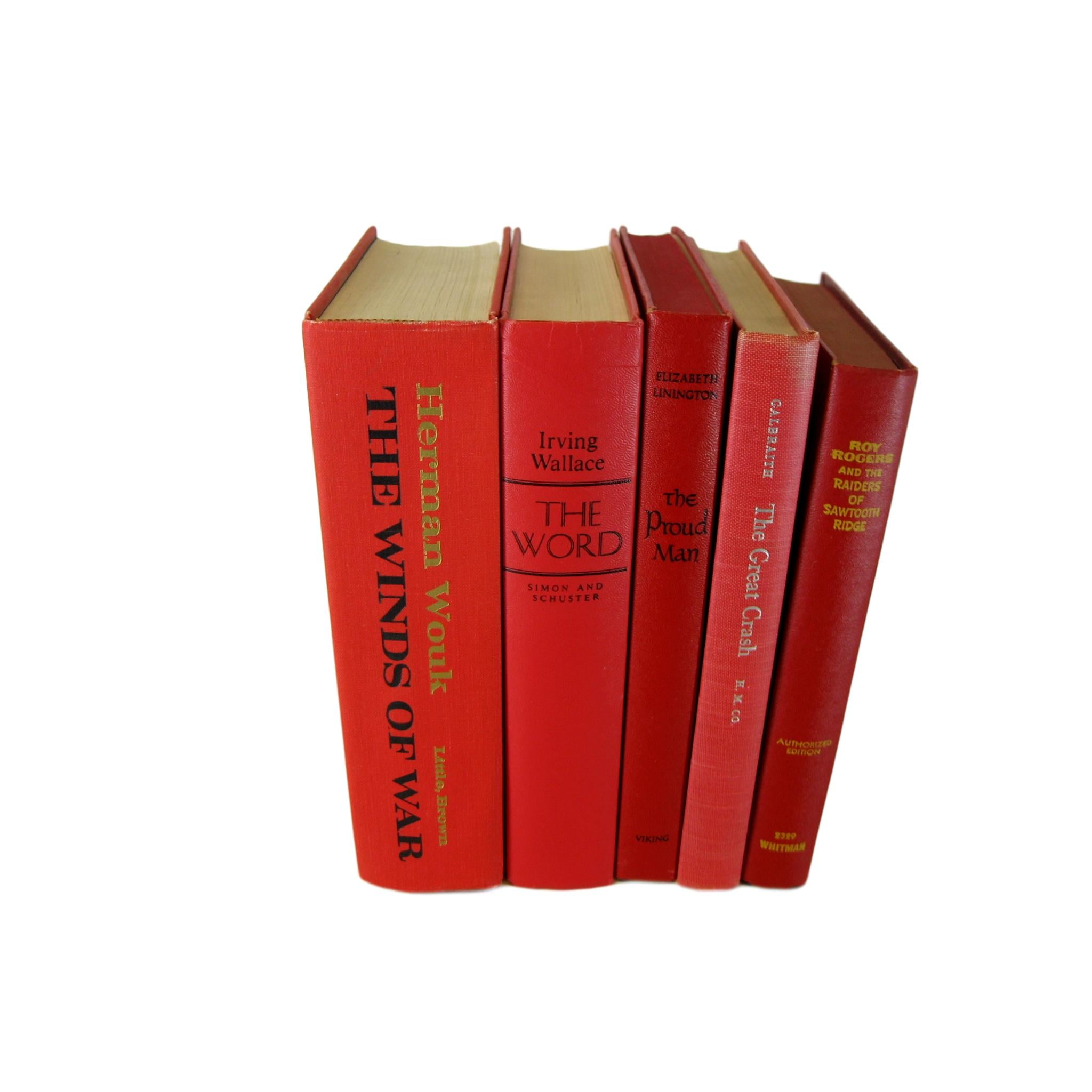 Decorative Books in Shades of Red, S/5 - Decades of Vintage