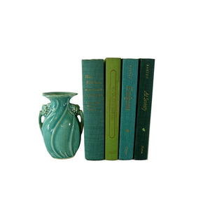 Decorative Book Set in Trendy Shades of Green, S/4 - Decades of Vintage