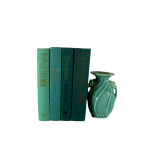 Green Book Decor for Bookshelf Decorating, S/4 - Decades of Vintage