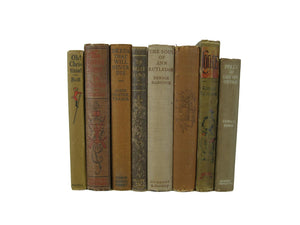Brown Shades of Decorative Accent Books for Home Decor,  S/8 - Decades of Vintage
