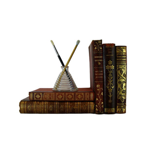 Decorative Leather Books for Display, S/5 - Decades of Vintage