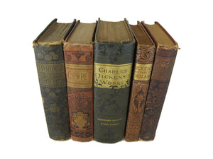 Decorative Books for Shelf Decor and Display, S/5 - Decades of Vintage