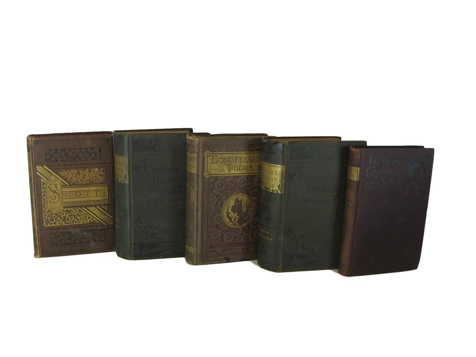 Antique Books for Shelf Decor , S/5 - Decades of Vintage