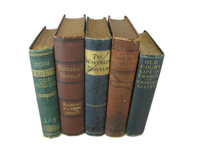 Antique Book Set for Shelf Decor , S/5 - Decades of Vintage