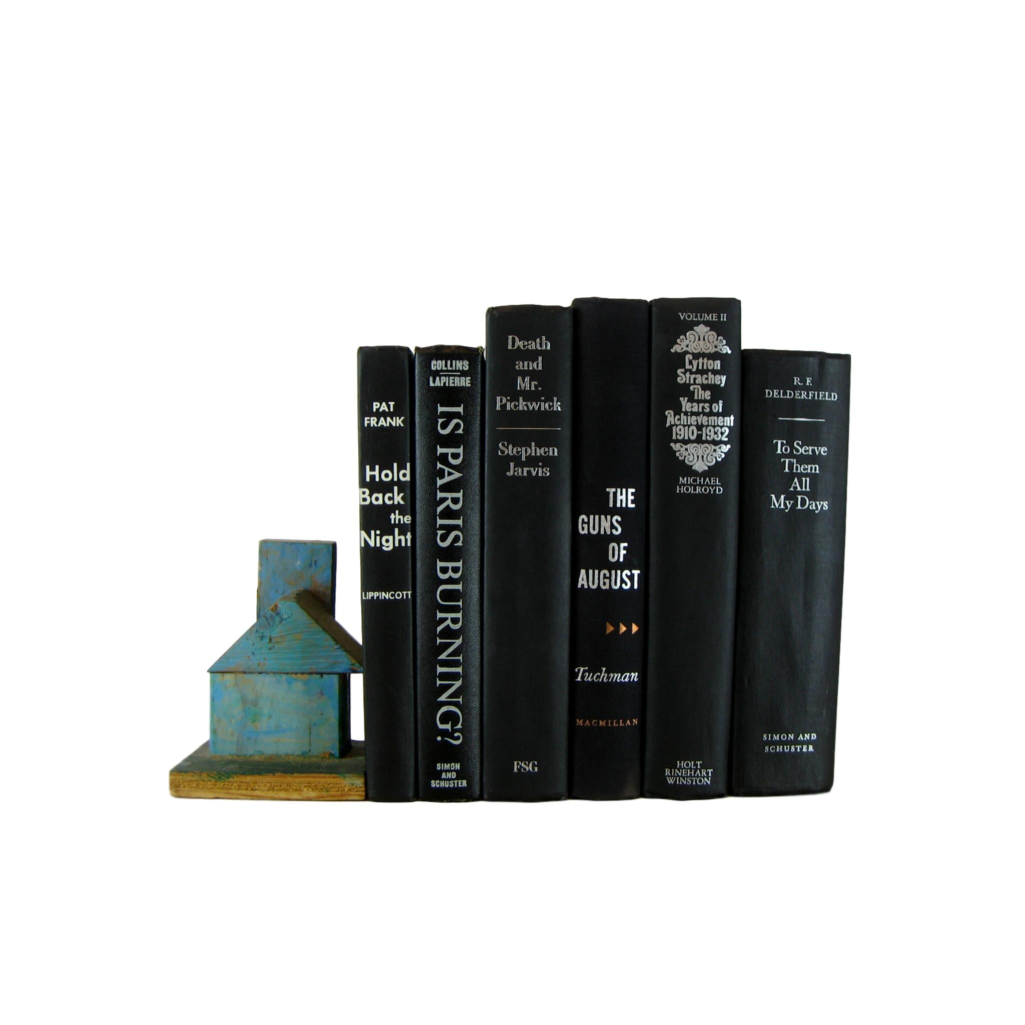 Black Decorative Books for Home Decor, S/6 - Decades of Vintage