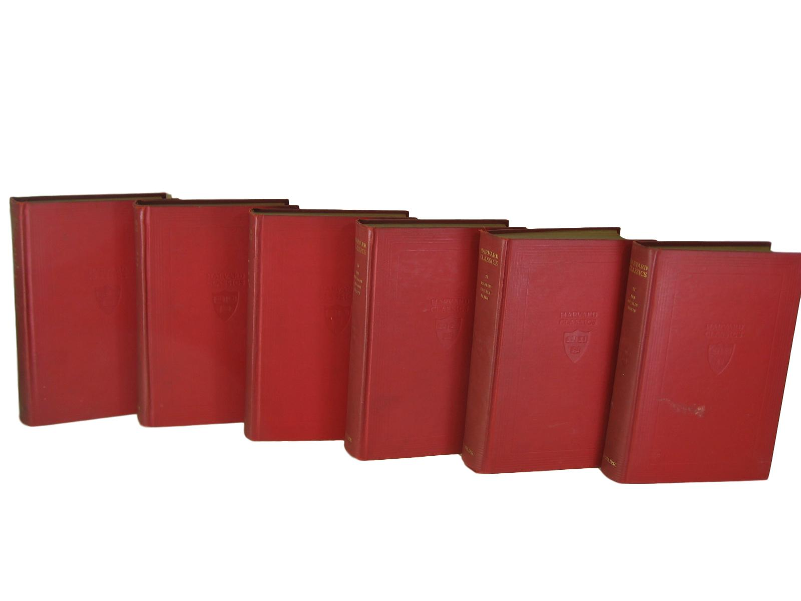 Red Harvard Classics from 1909, S/6 - Decades of Vintage
