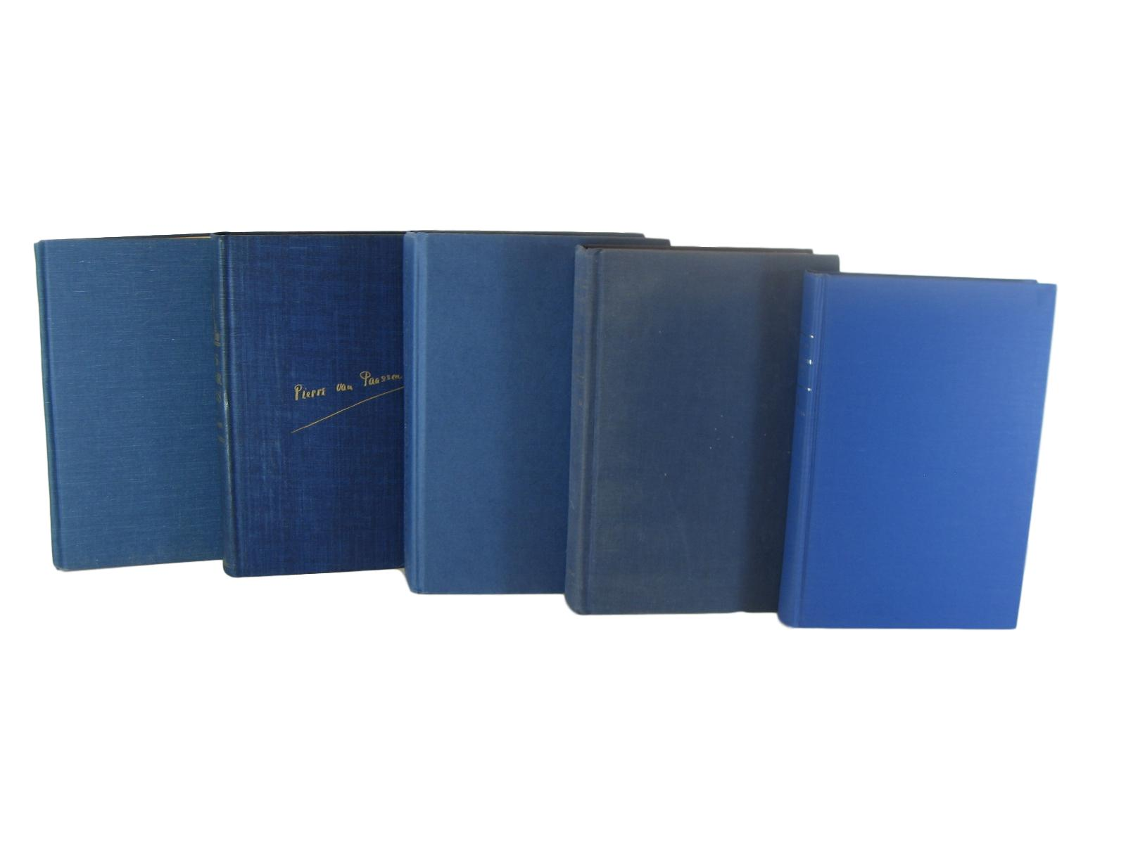 Blue Decorative Books for  Vintage Book Decor, S/5 - Decades of Vintage