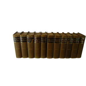 Antique Decorative Book Set of Works of Sir Walter Scott, S/11 - Decades of Vintage