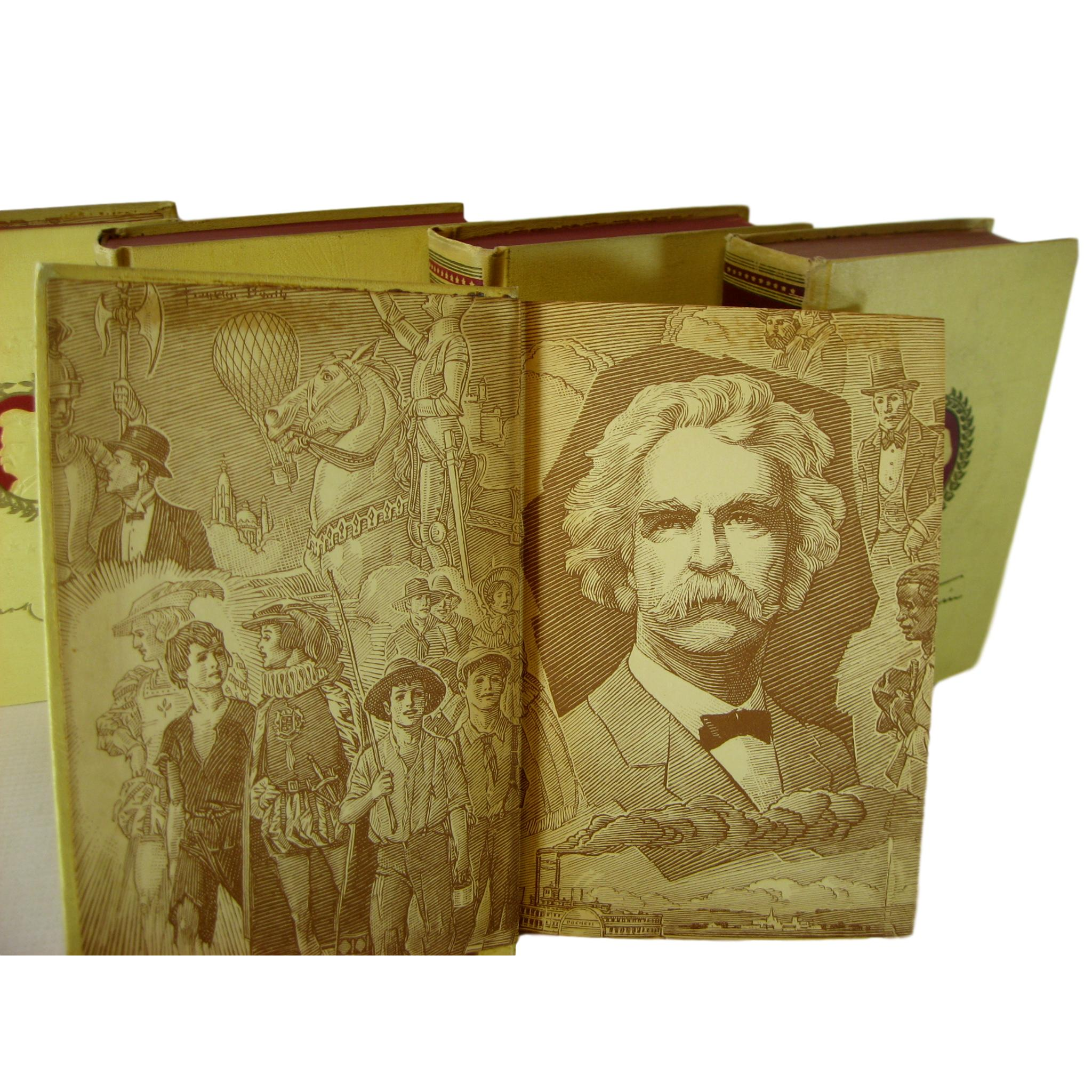 Mark Twain Classics, Decorative Books for Interior Design, S/5 - Decades of Vintage