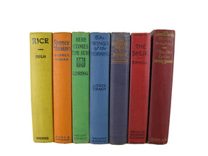 Rainbow Color Books for Mantle Decor, S/7 - Decades of Vintage