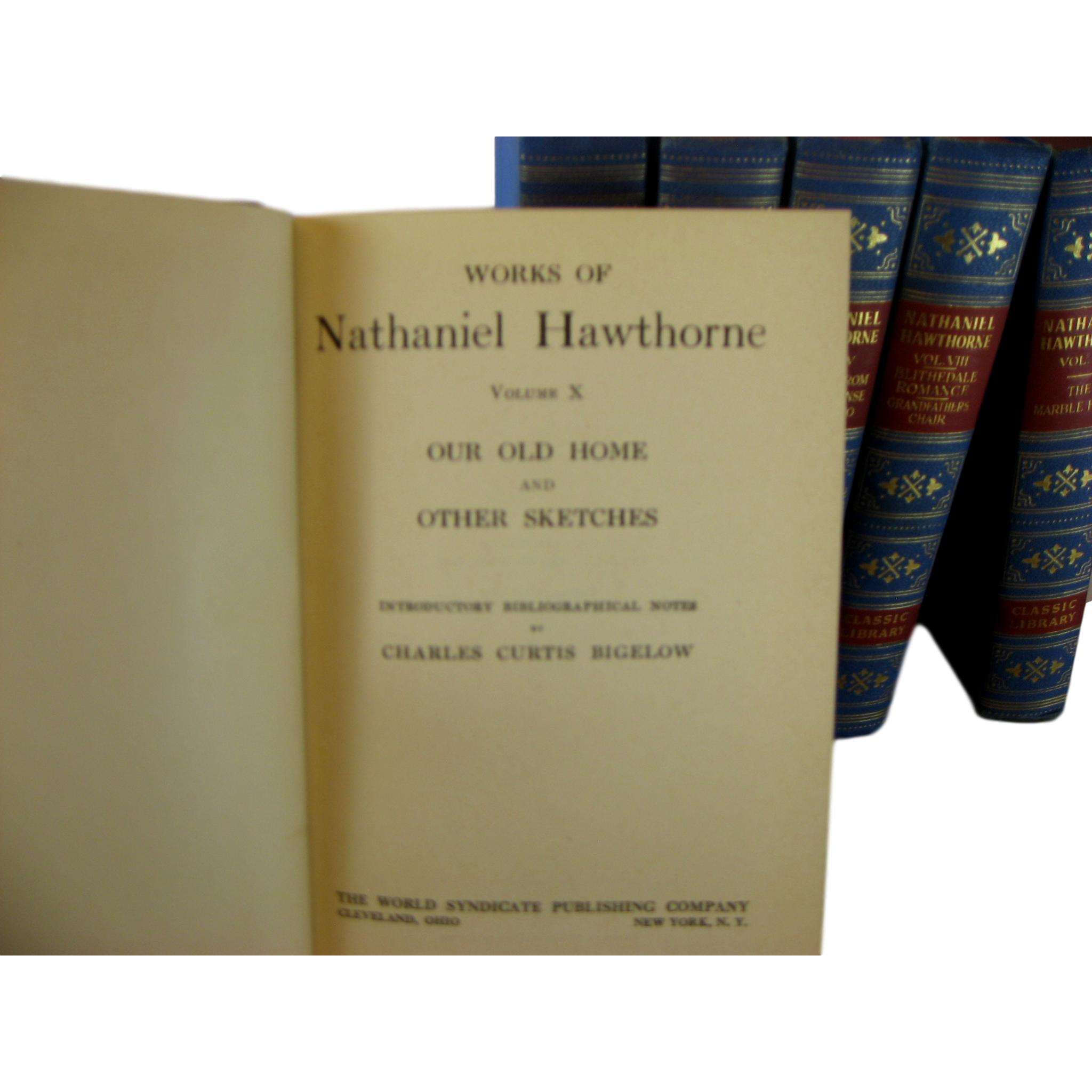 Nathaniel Hawthorne Vintage Decorative Book Set for Interior Design and Decor, S/8 - Decades of Vintage