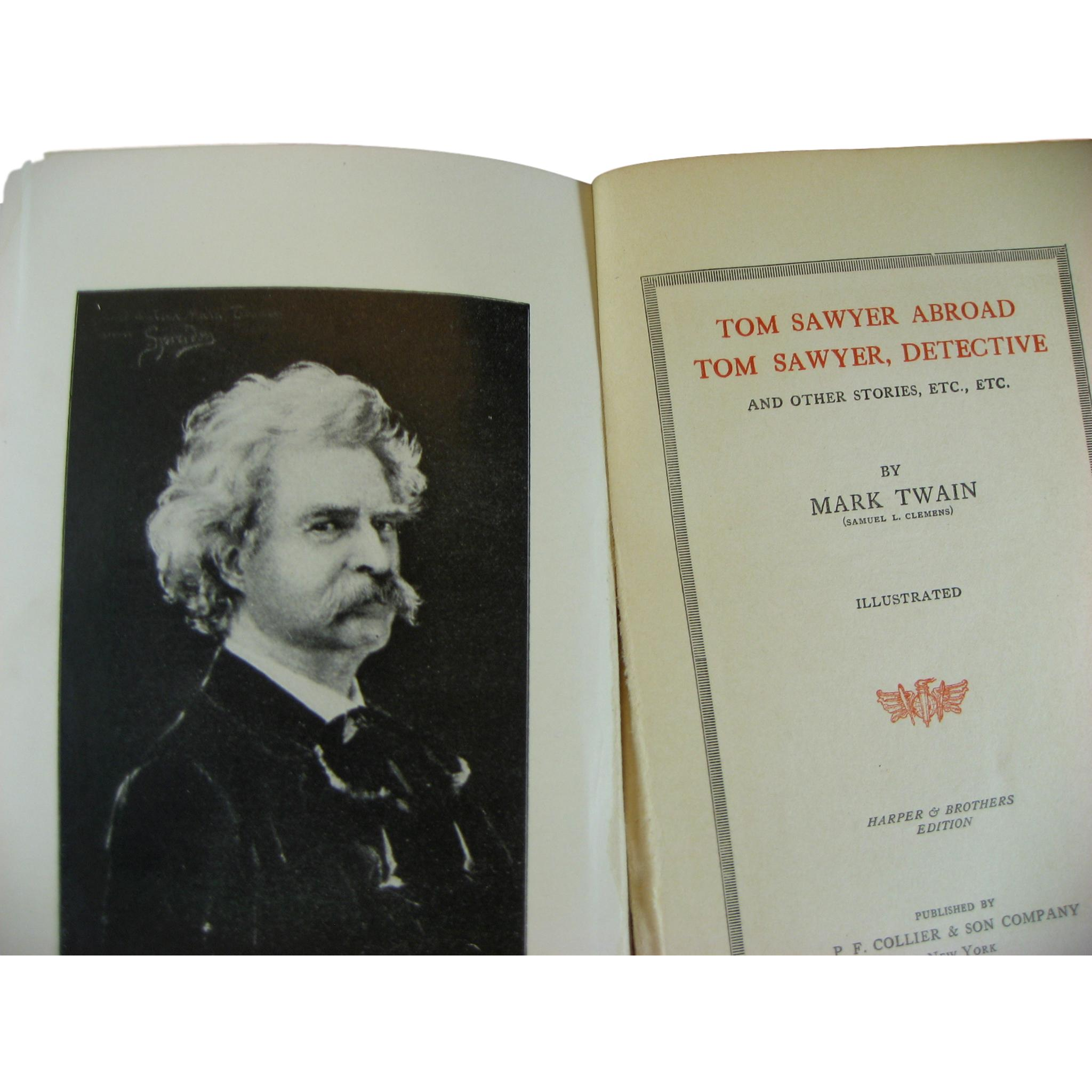 Mark Twain Book Set for Decorative Shelf Decor, S/7 - Decades of Vintage