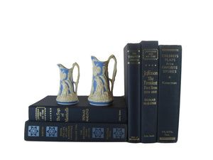 Blue Old Books for Decoration,  S/5, [decorative_books], Decades of Vintage