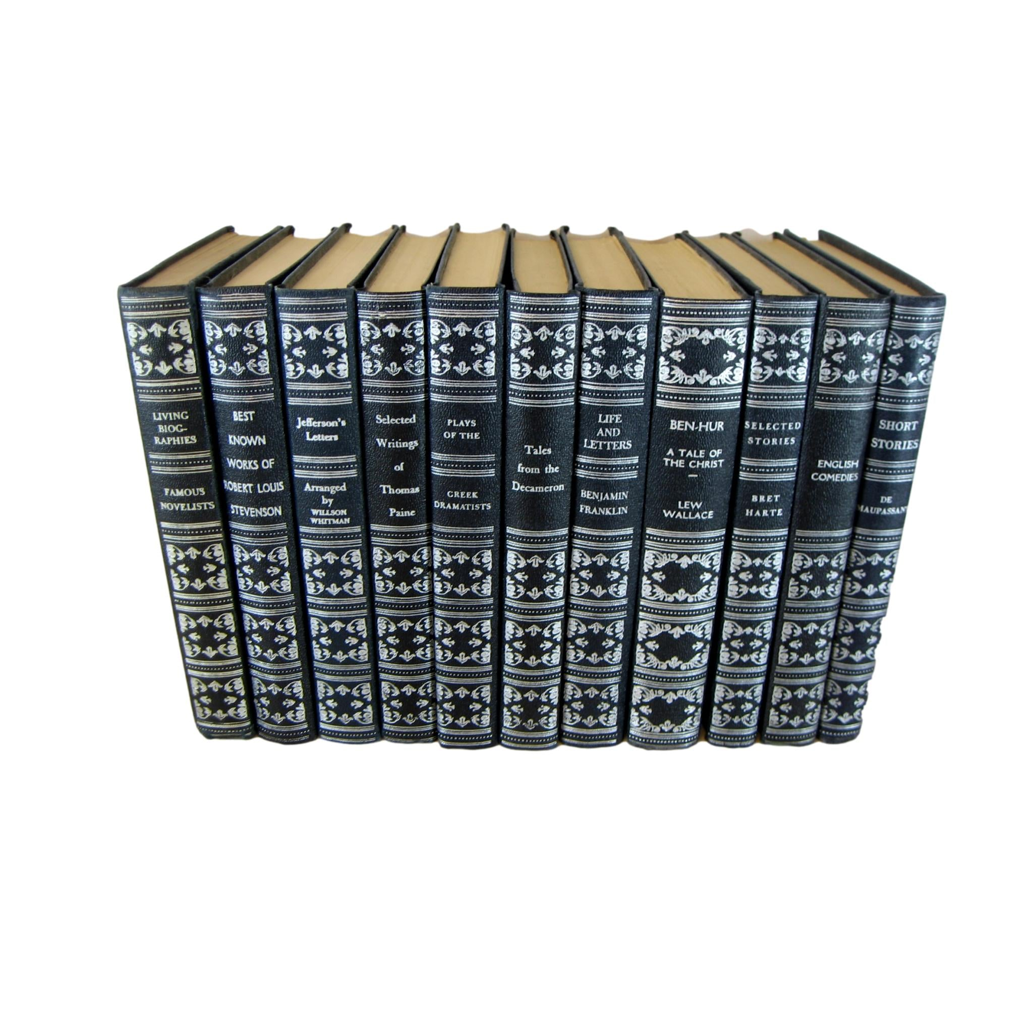 Blue  Decorative Books for Shelf Display and  Decor, S/5 - Decades of Vintage