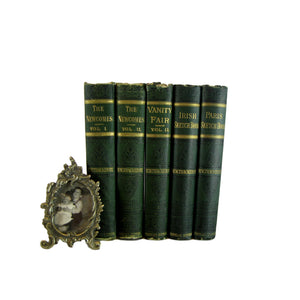 Antique Decorative Book Set of Works of Thackeray, S/5 - Decades of Vintage