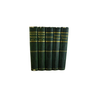 Works of Thackeray, Antique Decorative Books, S/5 - Decades of Vintage