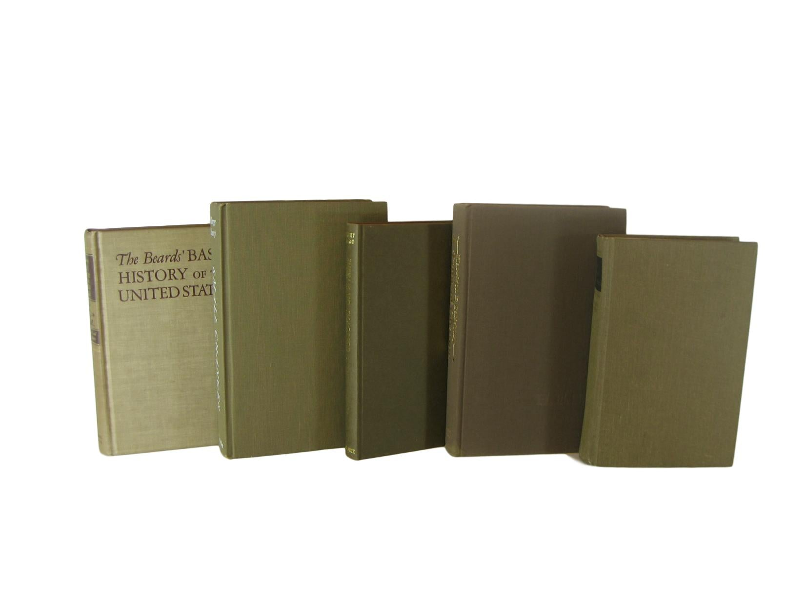Brown Books for Farmhouse Book Decor, S/5 - Decades of Vintage