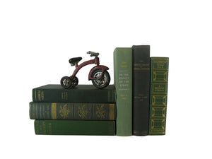 Green Decorative Vintage Book Set, S/6 - Decades of Vintage