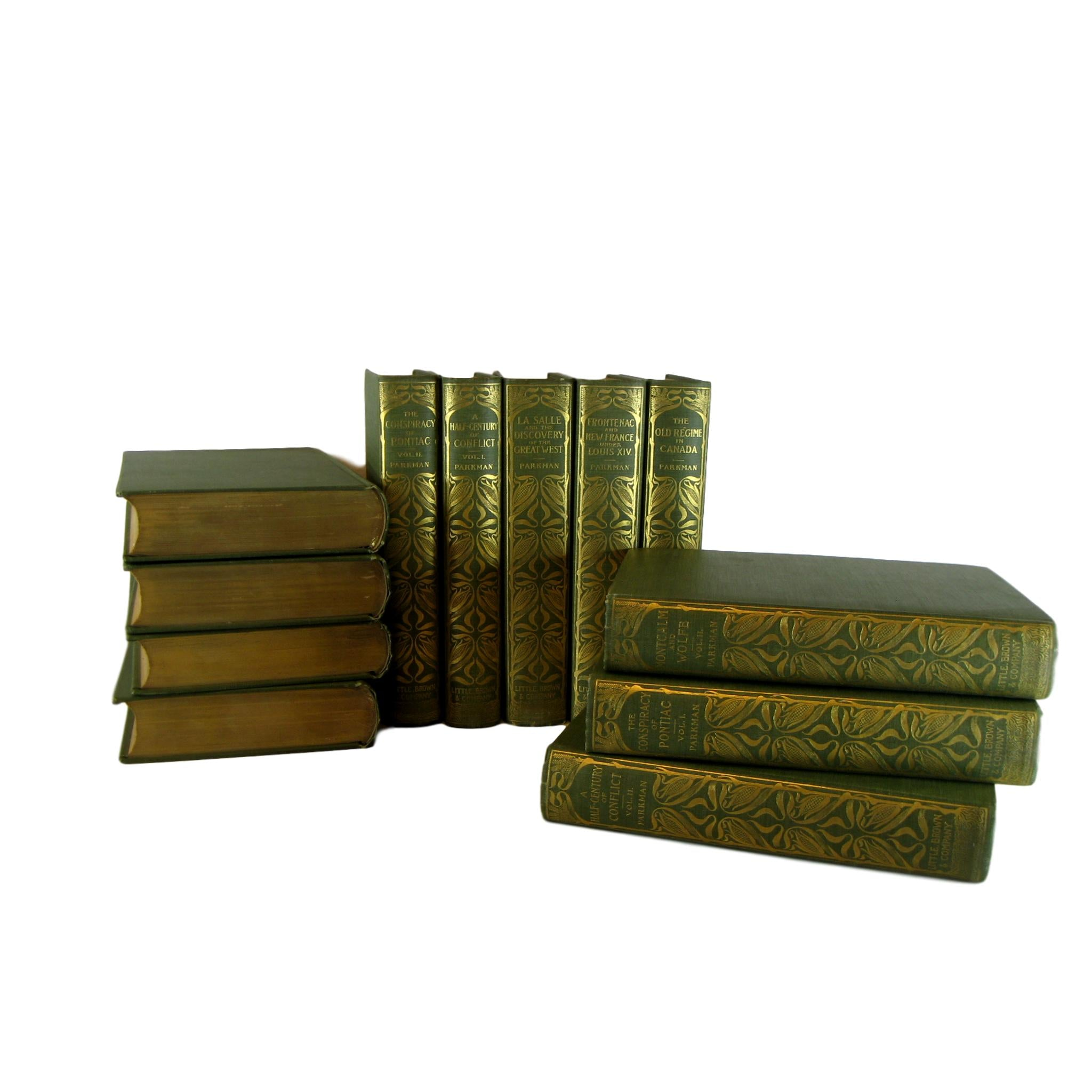 Antique Green Decorative Book Set from 1897, S/12 - Decades of Vintage