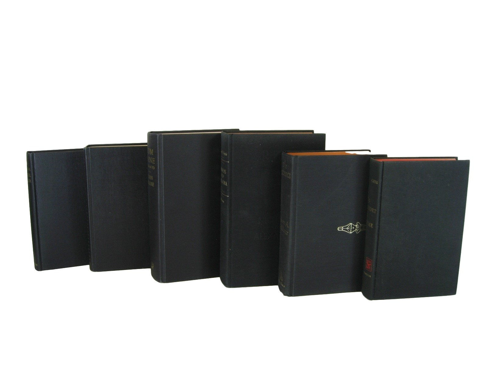 Black Vintage Hardcover Books,  Decorative Vintage Book Set, S/6 - Decades of Vintage