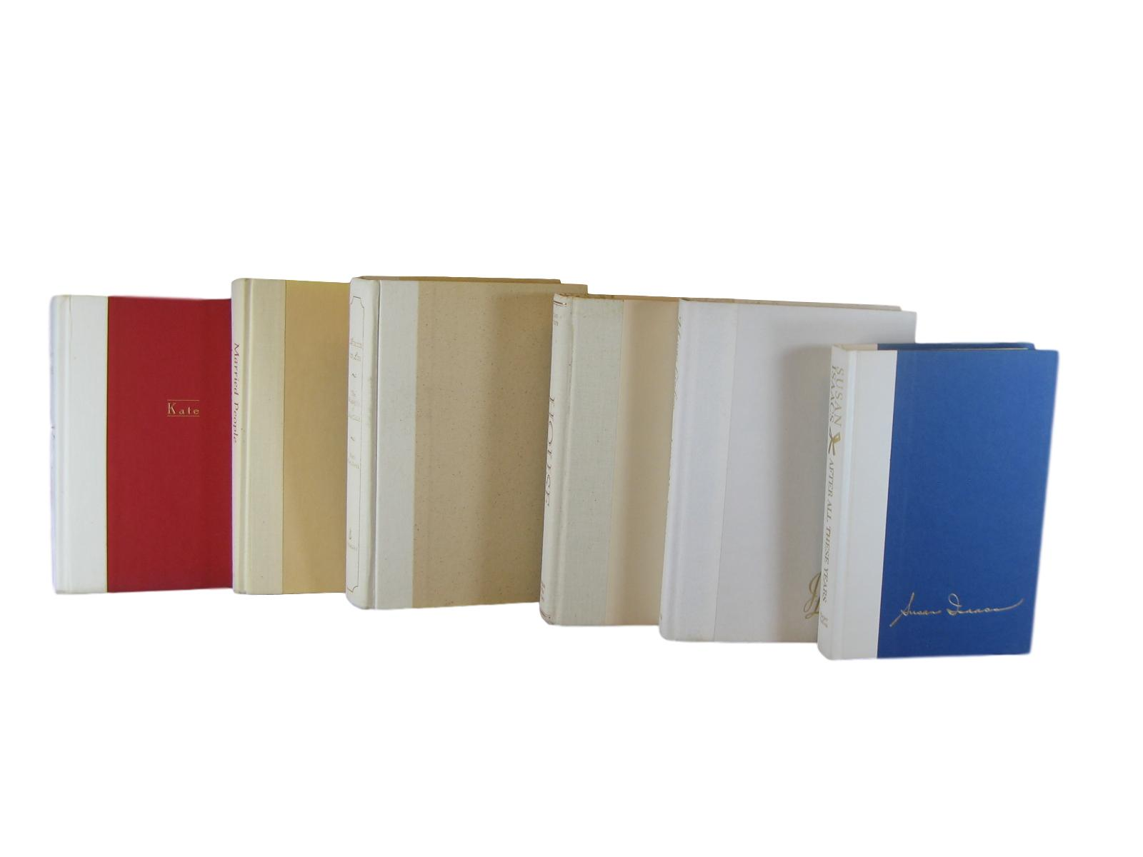 White Beige  Decorative Vintage Book Set, S/6, [decorative_books], Decades of Vintage