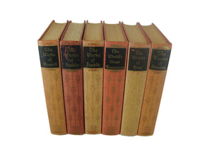 Works of Famous Classic Authors, a Vintage Literature Set, S/6