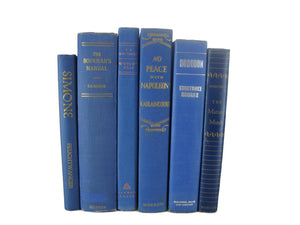 Blue  Decorative Books for Home Decor, S/6 - Decades of Vintage