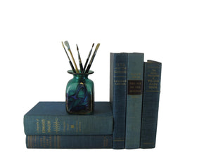 Blue  Vintage Old Books for Decorating, S/5 - Decades of Vintage