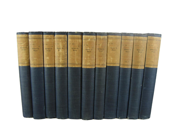 Black Vintage Books, S/6-black vintage books-Decades of Vintage