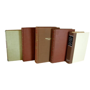 Brown Decorative Books for Shelves, S/5 - Decades of Vintage