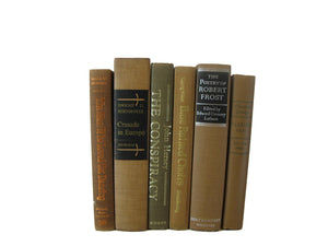Brown Decorative Vintage Book Set, S/6 - Decades of Vintage