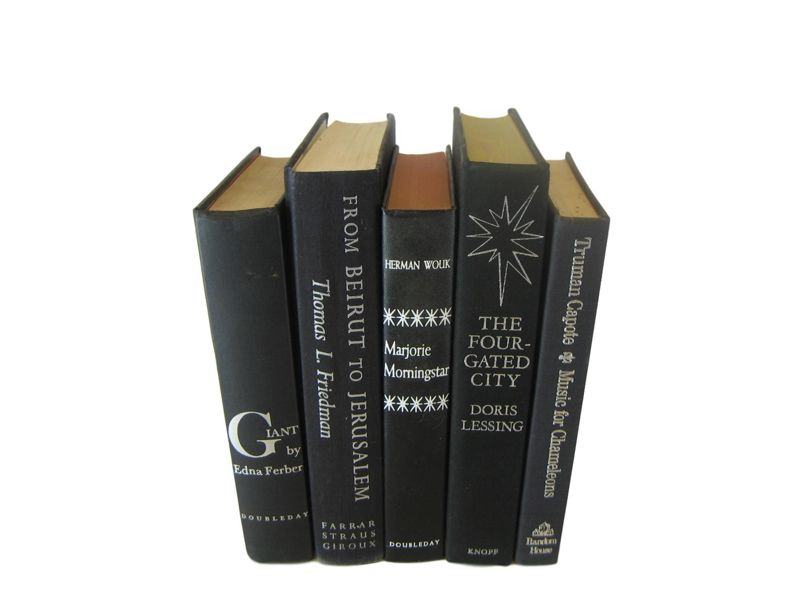 Black Vintage Books, Decorative Set, S/5 - Decades of Vintage