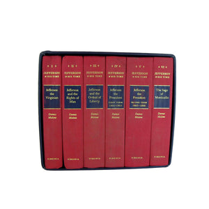 Jefferson and His Time Set of Book in Cloth Covered Slipcase, S/6 - Decades of Vintage