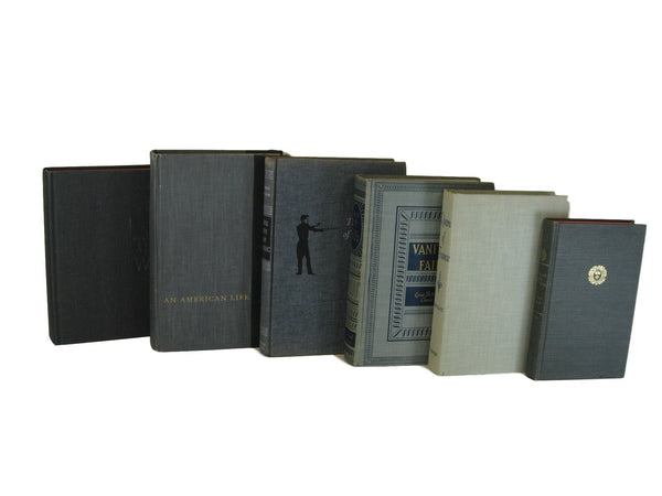 Gray Vintage Books for Display, S/6 - Decades of Vintage