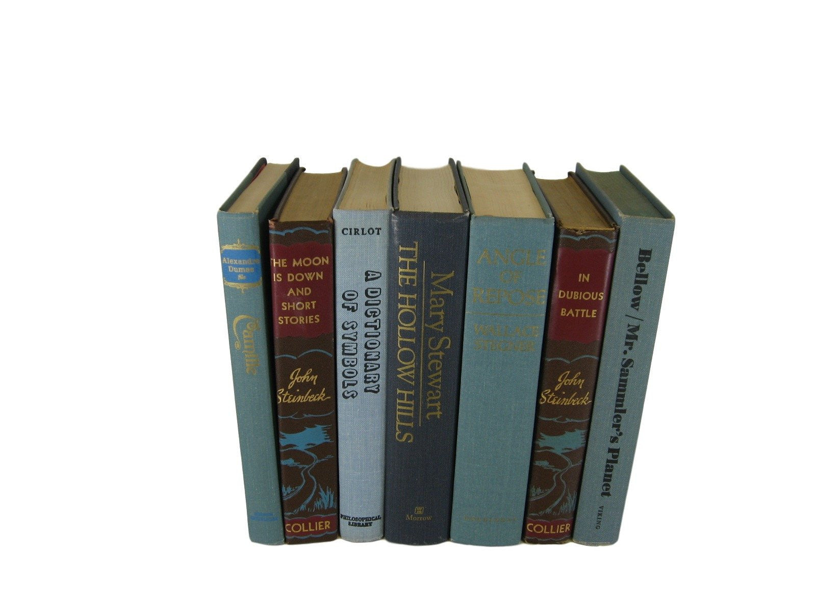Blue and Brown Old Books, S/7 - Decades of Vintage
