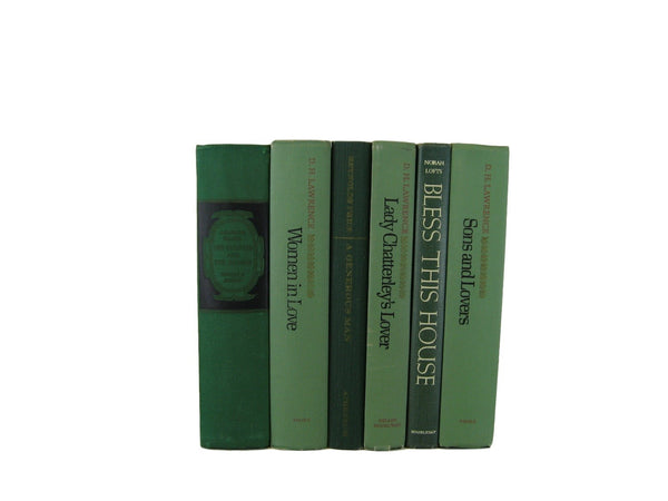 Green Decorative Book Collection, S/6 - Decades of Vintage