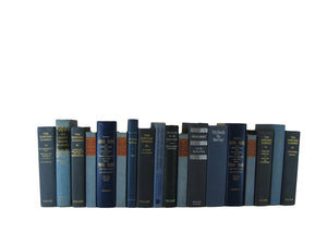 Custom Order - 4 Feet of Decorative Vintage Books in Blue Shades - Decades of Vintage
