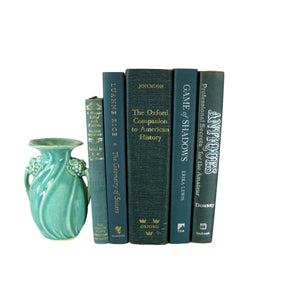 Decorative Books for Display, Green Set of Books, S/5 - Decades of Vintage