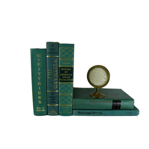 Green Vintage Decorative Books , S/5 - Decades of Vintage
