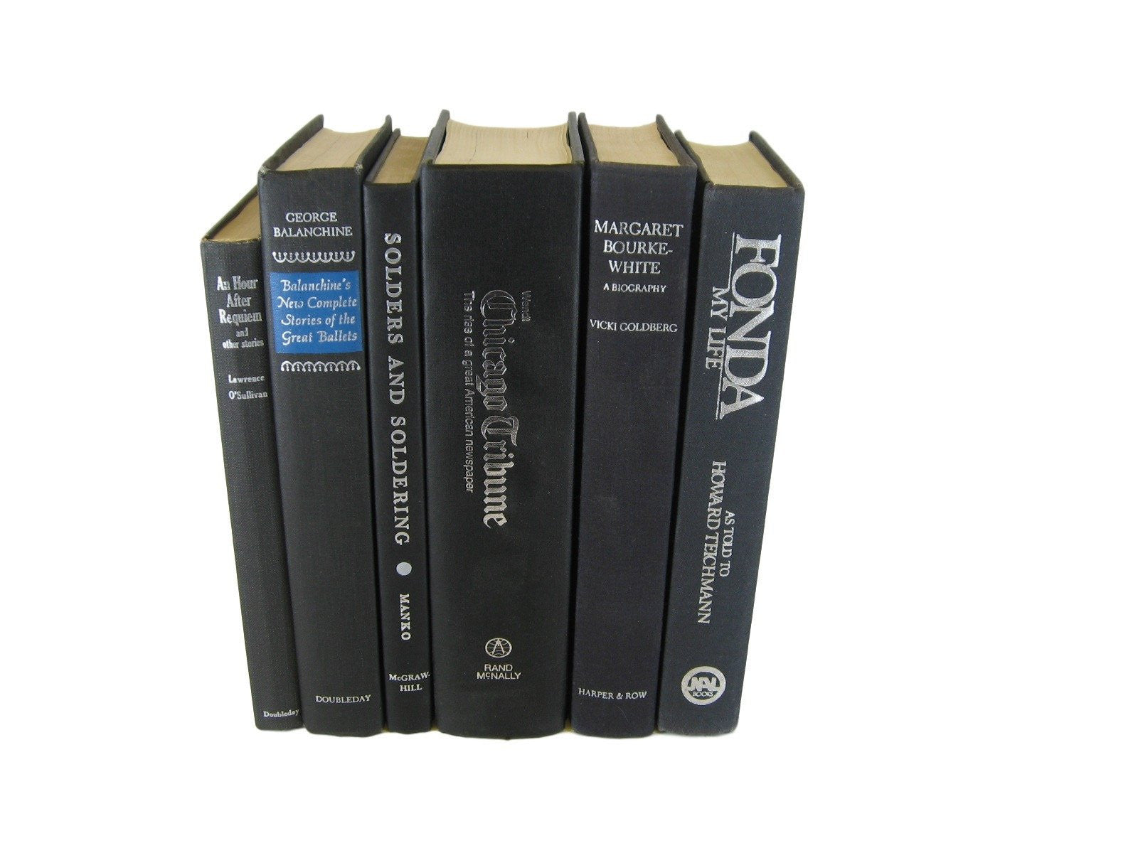 Vintage Black Books for Decor, S/6 - Decades of Vintage