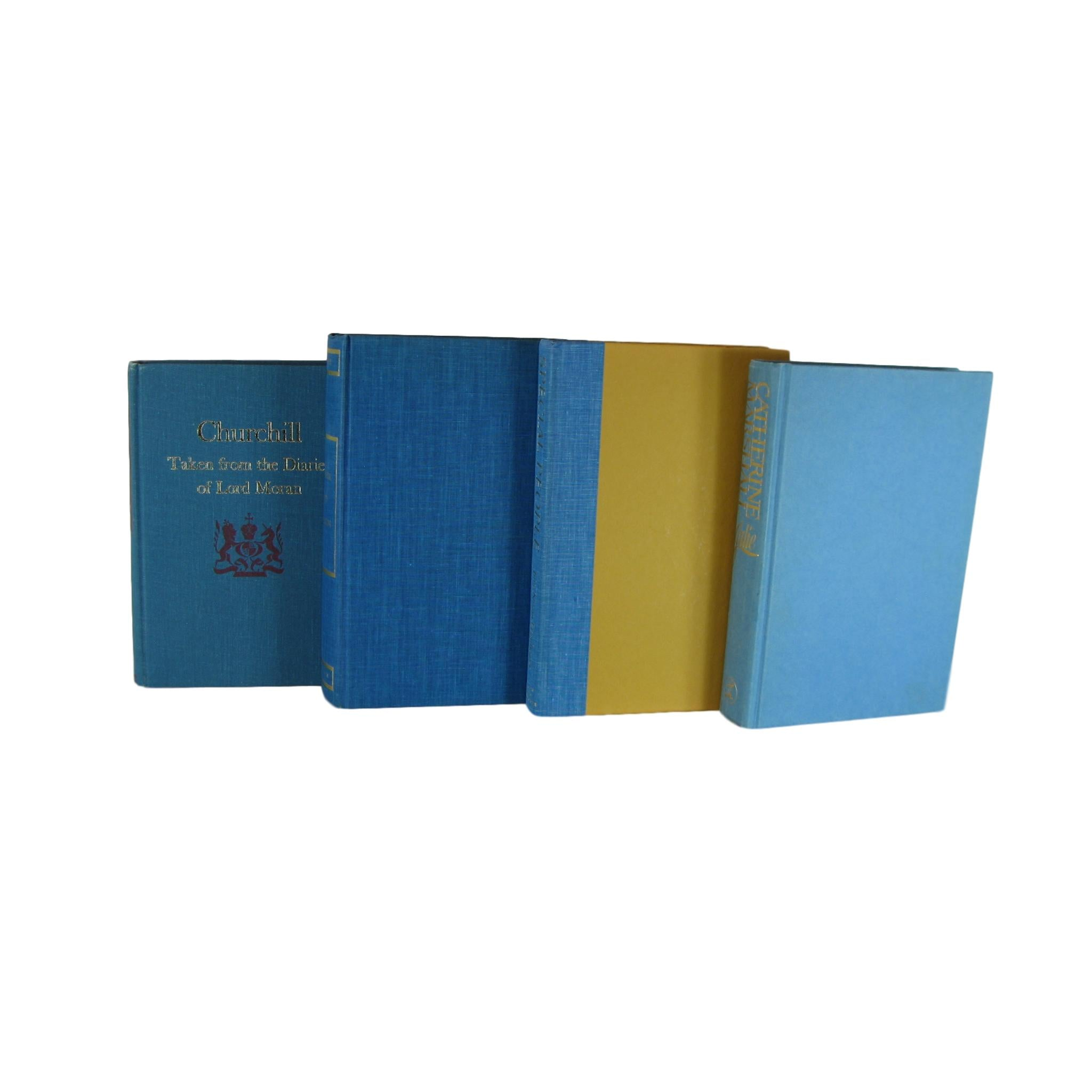 Vintage Blue  Books for Decoration,  S/4 - Decades of Vintage