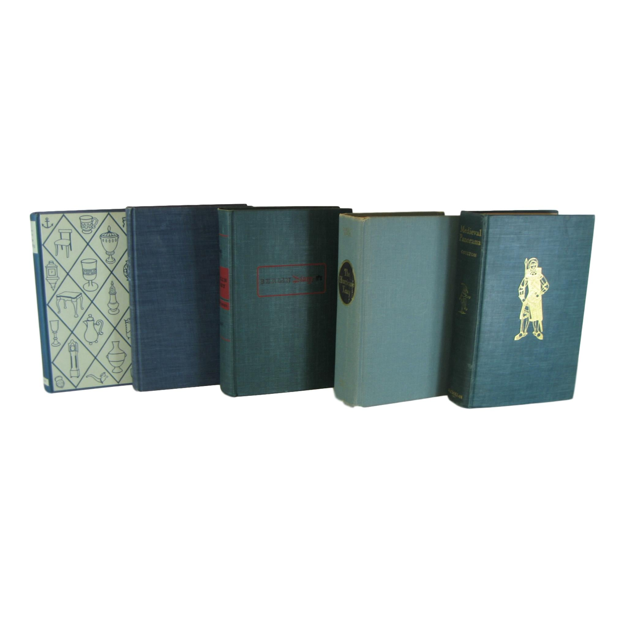 Green Decorative Books for Decor,  S/5 - Decades of Vintage
