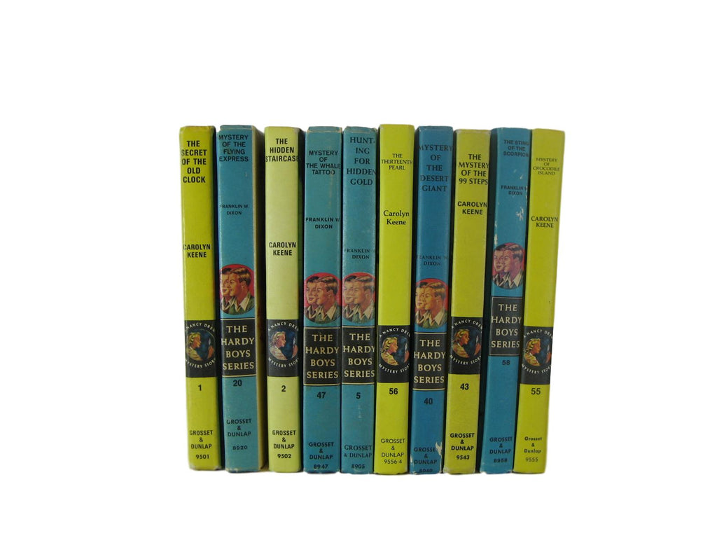 Classic Vintage Nancy Drew and Hardy Boys Selections, Set of 10 - Decades of Vintage