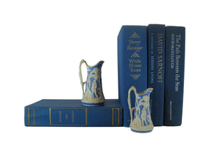 Blue Set of Decorative Books for Bookshelf Decor, S/5 - Decades of Vintage