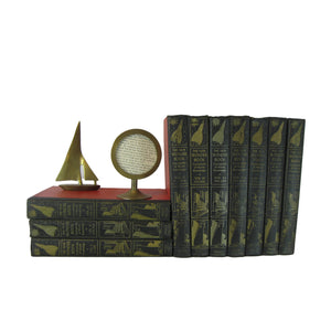 Black Decorative Book Set Perfect for Bookshelf Display, S/10 - Decades of Vintage