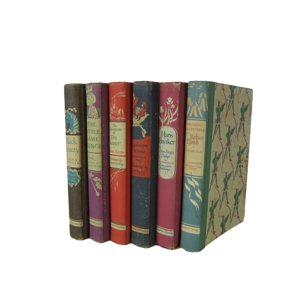 Vintage Children's Classic Decorative Book Collection, Set of 6 - Decades of Vintage